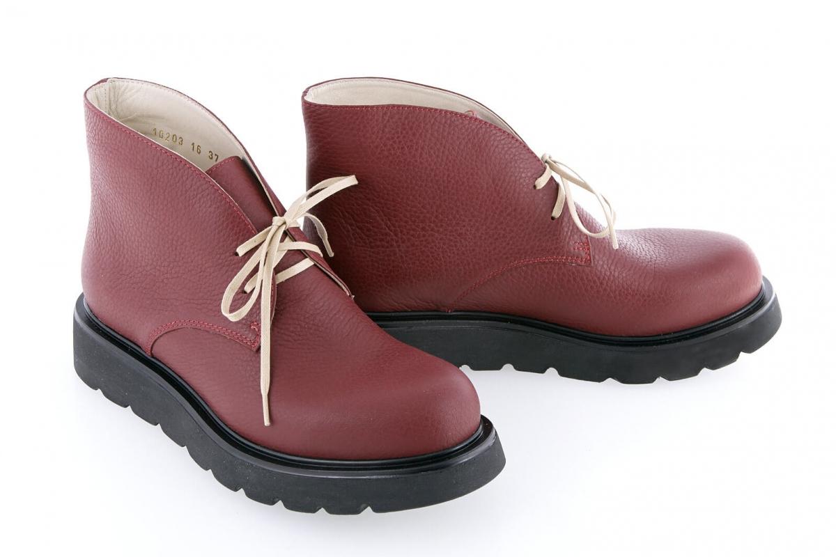 93e6e5554 Купить Ботинки 10303 | Цвет: марсал | Материал: кожа натуральная | Ботинки  женские | Ботинки - Интернет-магазин leomoda.ua