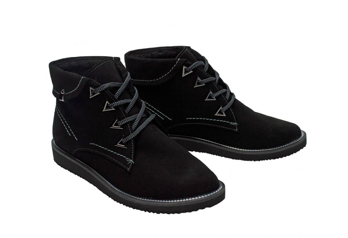 d7c7e94f6f47 Купить Ботинки 21_1038 | Цвет: чёрный | Материал: замша натуральная |  Распродажа | Ботинки - Интернет-магазин leomoda.ua