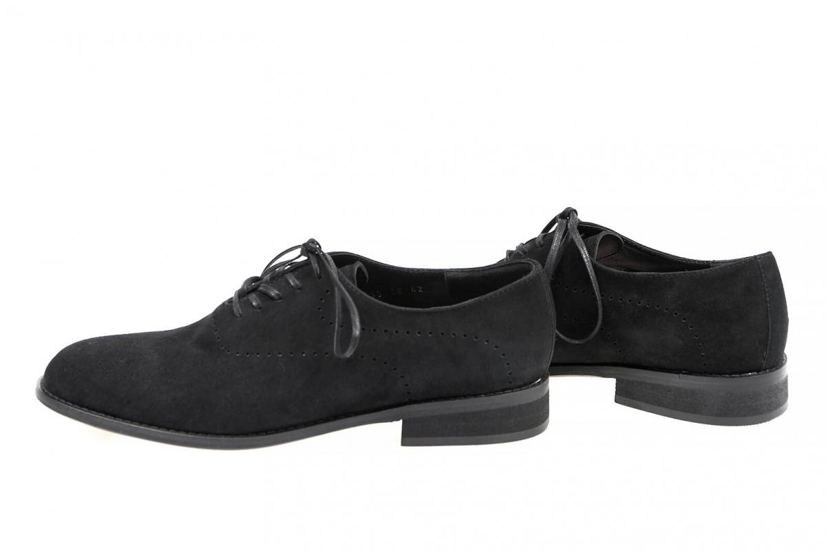 1ee6dbf8ce1e5f Купити Туфлі 0033 | Колір: чорний | Матеріал: велюр натуральний ...